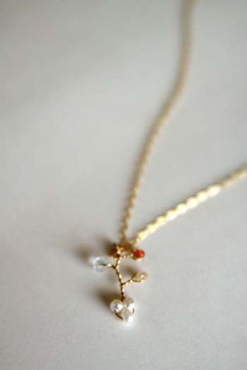 zircon(natural stone) necklace